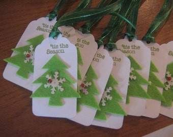 Christmas Tree Gift Tags, Holiday Gift Tags, Christmas Trees