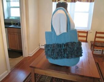 Ruffle Fabric Bag
