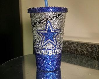 Blinged Out Dallas Cowboys Tumbler