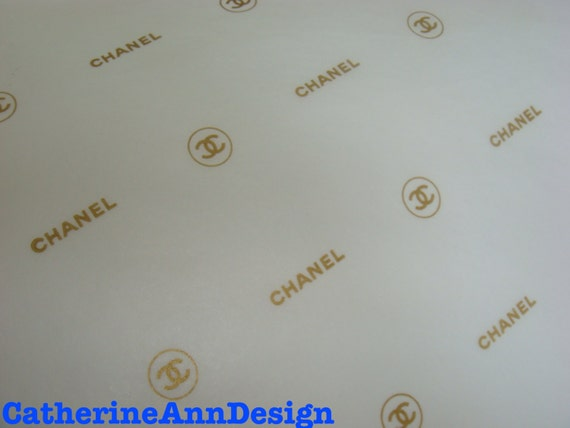 Authentic Chanel White And Gold Chanel Amp Cc Logo Tissue Paper