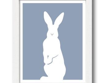 Standing Rabbit Print - Rabbit Silhouette