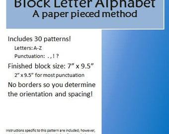 Pattern: Alphabet Block Letters