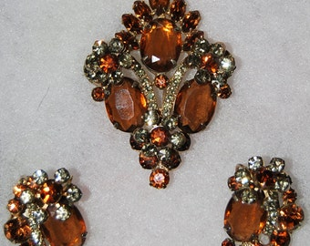 juliana brooch and earring set