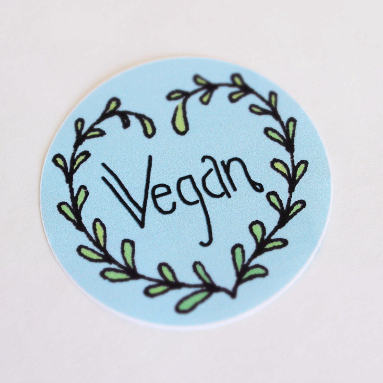 Vegan 100 recycled eco friendly sticker by for Vegan tattoo shops near me