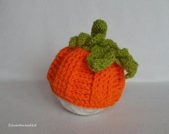 Pumpkin Baby Hat, Halloween Baby Hat