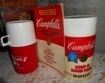 Vintage, Campbell's Soup Thermos, Red and White, Collectible