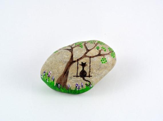 Piedra pintada a mano decoraci n del hogar arte rupestre for Decoracion del hogar hecho a mano