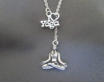 I Love Yoga Necklace - Lariat Style