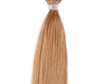 18inc 100grs,100s,Stick (I) Tip Human Hair Extensions 27 Strawberry Blonde