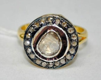Victorian 0.95ct Rose Cut Diamond Ring, Free Shipping Worldwide