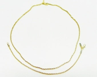 Vintage Gold Bonded Chain Necklace and Bracelet Set, 24K Gold Bonded over Sterling Silver
