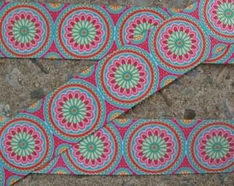 """3 yards Color Flowers Printed Ribbon 1"""" ribbon hair bow ribbon"""