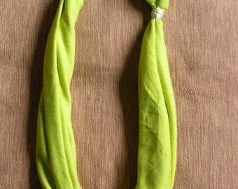 Lime and metal Necklace (SALE)