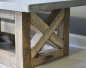 Concrete Coffee Table Reclaimed Wood Base. Handmade right here in the U S of A.