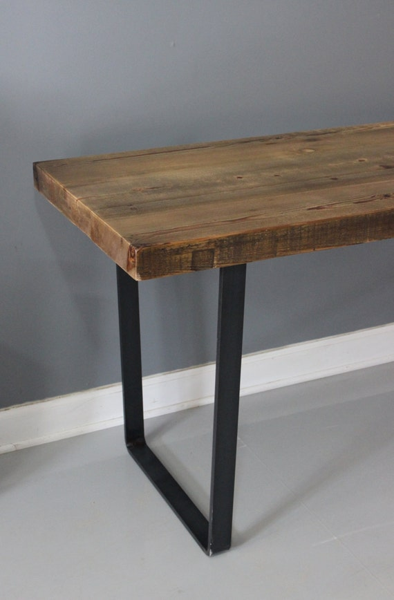 Metal Leg Table Dining Table Reclaimed Wood Industrial By DendroCo