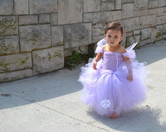 Purple Princess Costume / Purple Princess Tutu / Halloween Costume / Halloween Tutu / Tutu Costume / Cute Girls Costume / Little Princess