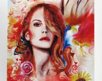 "Art Giclee Print Woman Art Limited Edition ""Summertime Sadness"""