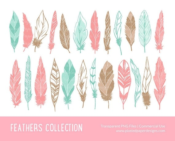 Feather clip art quot feather digital clipart quot digital clipart for