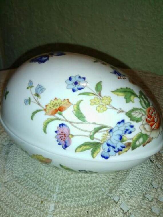 Vintage Fine Bone China Aynsley Cottage Garden Egg By