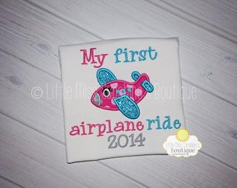 My First Airplane Ride Girls Shirt