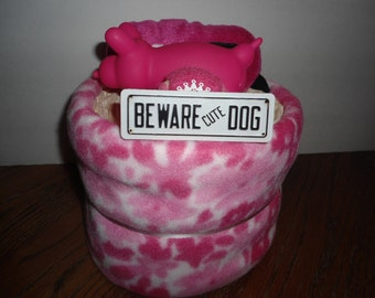 New Puppy PuppyCake ~ Fleece Dog Blanket with Toys, New Puppy Cake, New Puppy Gift