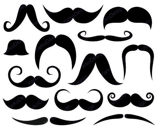 Mustache Clip Art  Photo Booth Printabl PropsPhoto Booth Clip Art