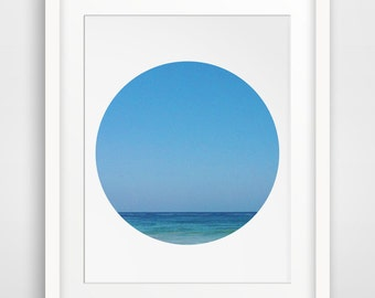 Ocean Photography, Ocean Wall Print, Ocean Wall Art, Blue Photography, Blue Summer Art, Horizon, Sea Print, Sea Art, Sea Wall Art, Sea Print