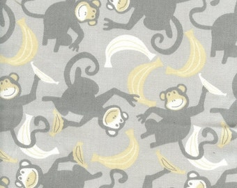 Helen twill storm yellow fabric by premier prints from for Nursery monkey fabric