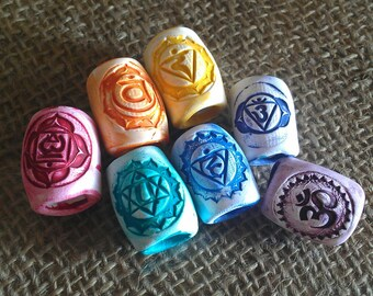 Chakra Dread Beads Set of 7