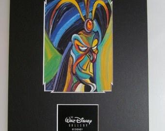 Jafar Aladdin Walt Disney Gallery custom matted 8x10 print Villains frame ready