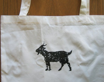 American Apparel Cotton Tote, GOAT Print, Made in the USA bag