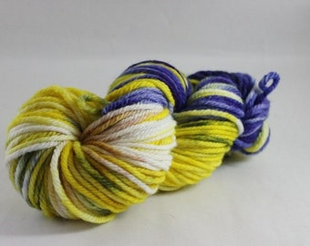 Merino Hand Painted Wool Yarn, Bulky weight, 2ply, Hand painted, Merino Yarn, Mill Spun, superwash
