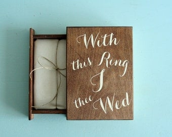 Ring Bearer Book - With this Ring I thee Wed - Weddings - Made to Order