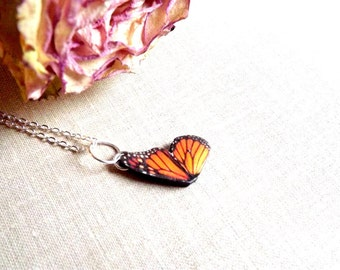Butterfly wing necklace, Monarch butterfly wing necklace, Butterfly wing, Wing necklace, Monarch butterfly, spring jewelry, Butterfly