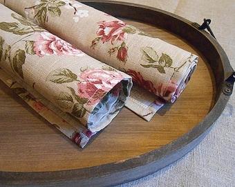 Tea Towel Kitchen Towel  Rose Tea Towel Shabby Chic Towel Floral Towel Natural Linen Towel Hand Towel Rustic Towel Wedding Gift