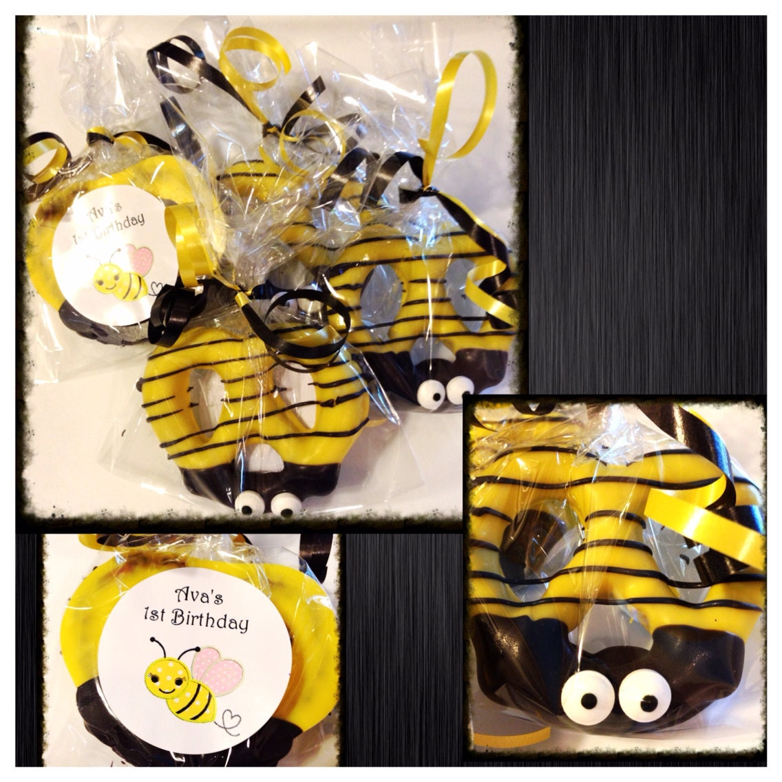 Bee Party Bumble Chocolate Covered Pretzels