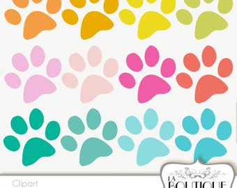 Paw print clipart | Etsy