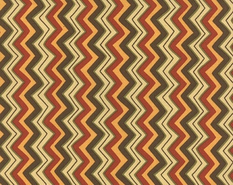 CLEARANCE - Hello Fall by Sandy Gervais for Moda, Chevron Multi Bark, 17785 12
