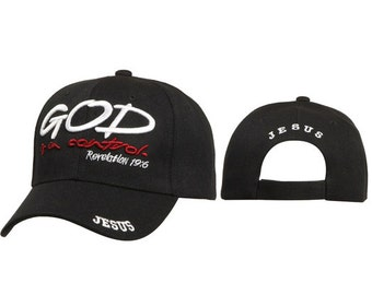God is in Control Embroidered Cap