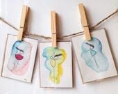 Little Dancer Handpainted Notecards, Set of 3