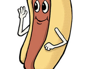 Dancing Hot Dog Etsy