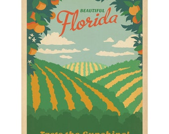 Florida Oranges Taste Sunshine Wall Decal #48321