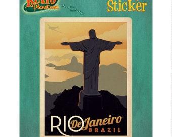Rio De Janeiro Brazil Christ Vinyl Sticker #47928