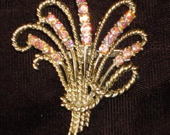 Vintage Crystals Borealis Brooch.