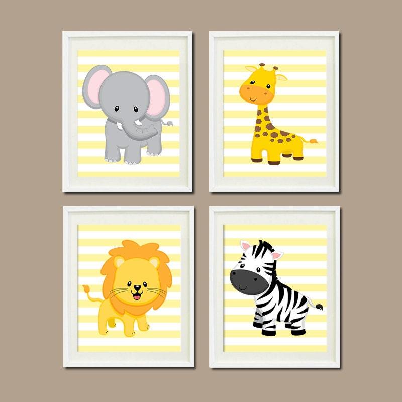 JUNGLE Nursery WALL ART Jungle Nursery Decor By