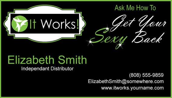 Items similar to It Works Business Card on Etsy