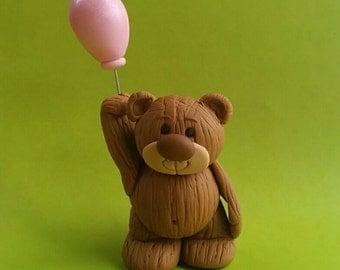 Fondant Teddy Bear & ballon cake / cupcake topper