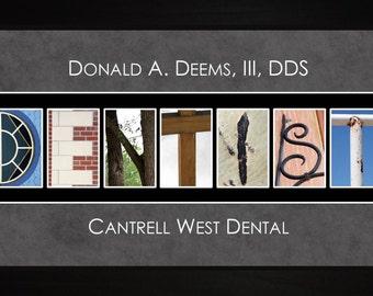 Personalized Art - Dentist Dental Hygenist Alphabet Photography Letter Wall Art Gift JDENT
