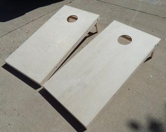 Unfinished naked Cornhole Boards