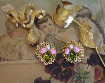 DESTASH Vintage Lot Costume Jewelry Signed Coro Monet Sarah Cov